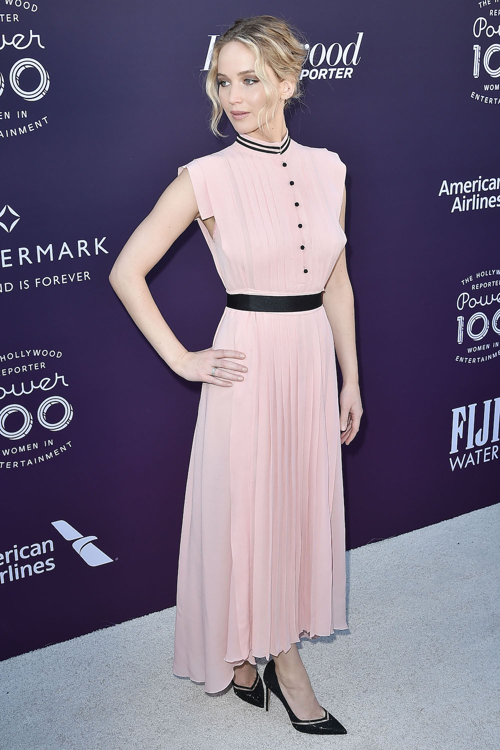 Jennifer Lawrence Wore A Millennial Pink Dress To Amy