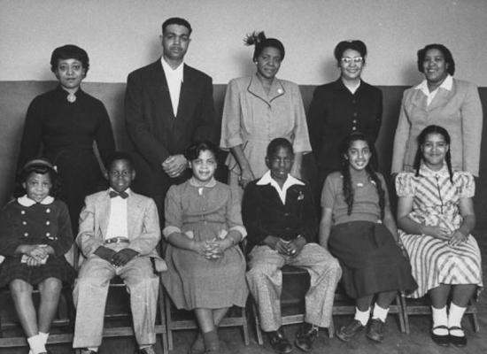 Plaintiffs from Brown v. Board of Education