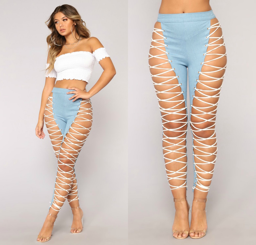 Fashion Nova Sells Extreme Lace Up Jeans HelloGiggles