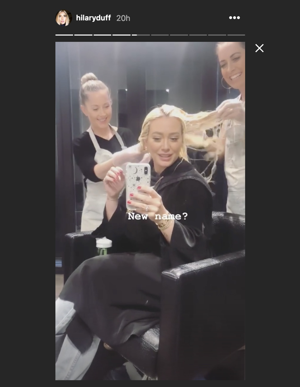 Hilary Duff Just Debuted Platinum Blonde Icy Hair