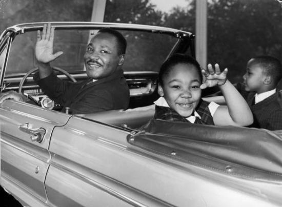 Martin Luther King Jr. and his children