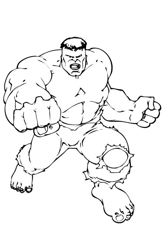 the incredible hulk coloring pages the hulk
