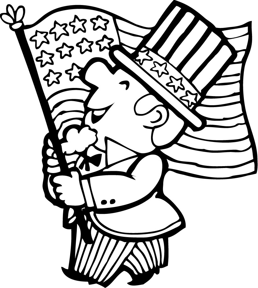 4th of july coloring pages 4th of july patriotic heart