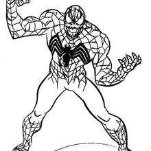 marvel venom head coloring pages