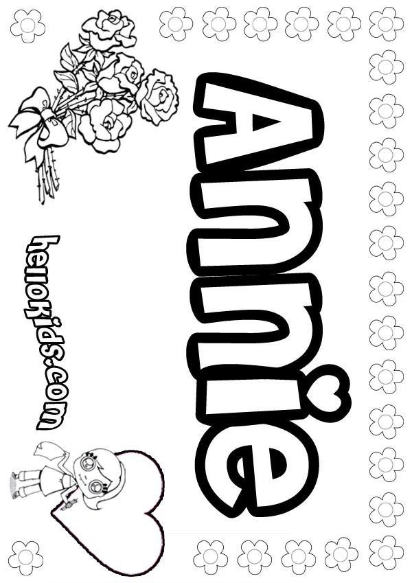 Annie Leblanc Coloring Pages
