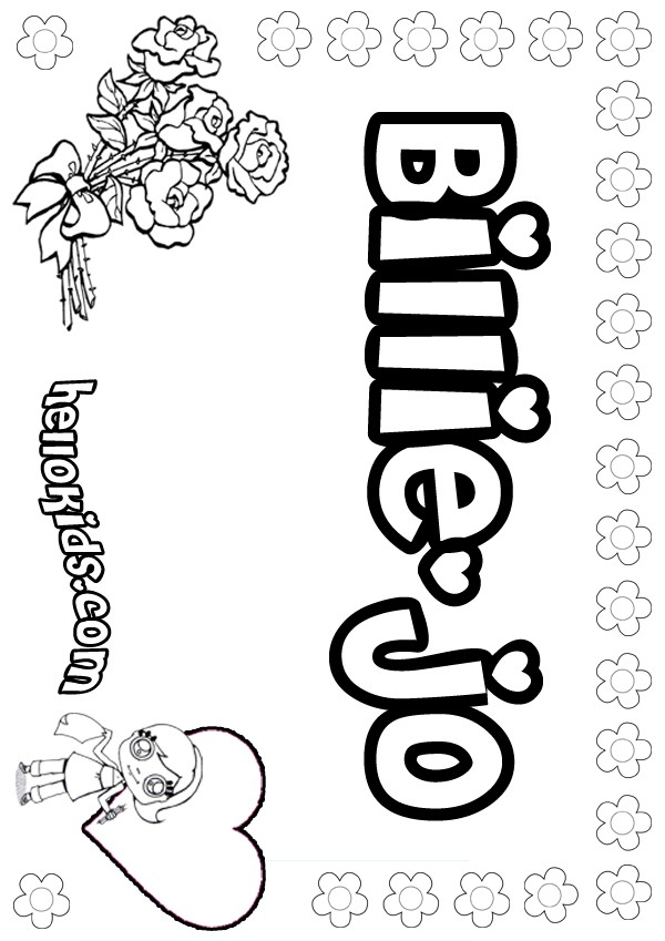 billiejo coloring pages  hellokids