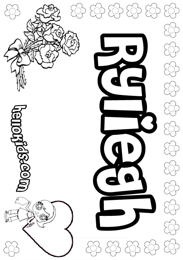 ryliegh coloring pages  hellokids