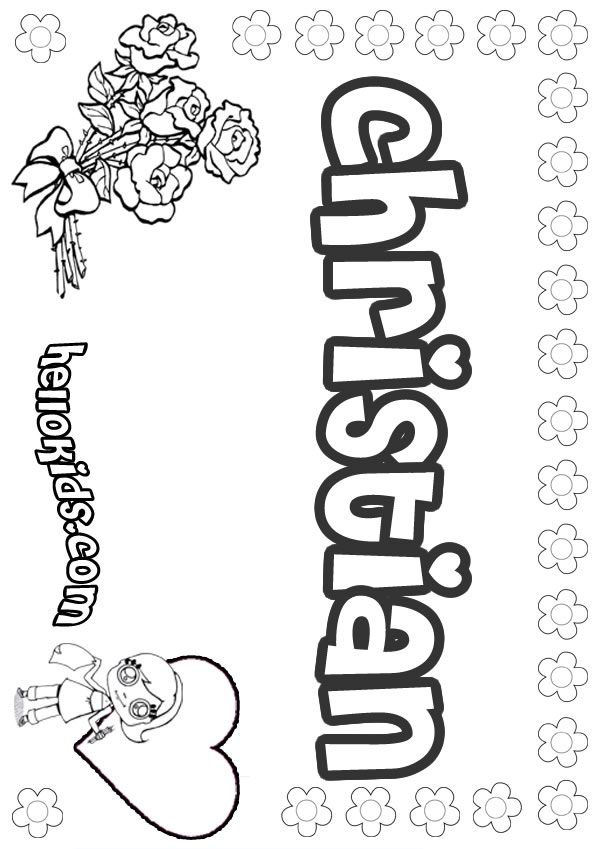 girls name coloring pages christian girly name to color