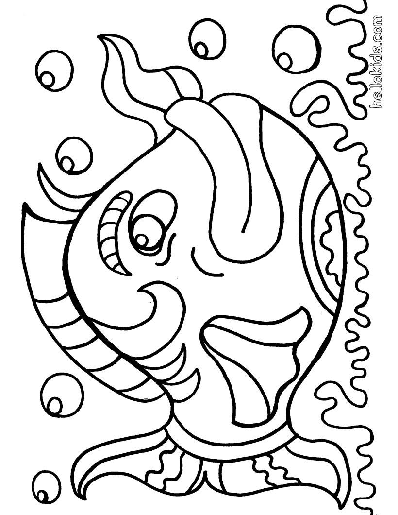 fish coloring pages big fish