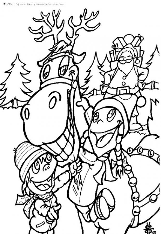 santa 39 s reindeer coloring pages rudolph the red nosed reindeer