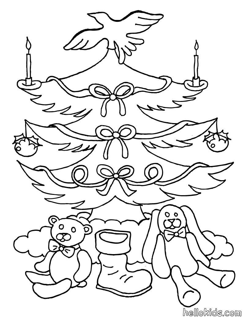 christmas tree coloring pages xmas tree vintage ornaments