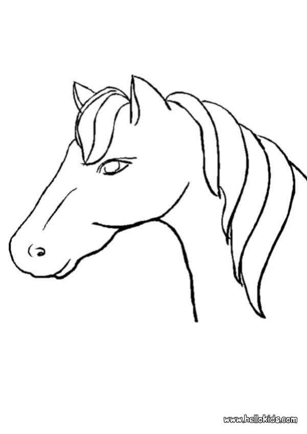 horse head coloring page # 4