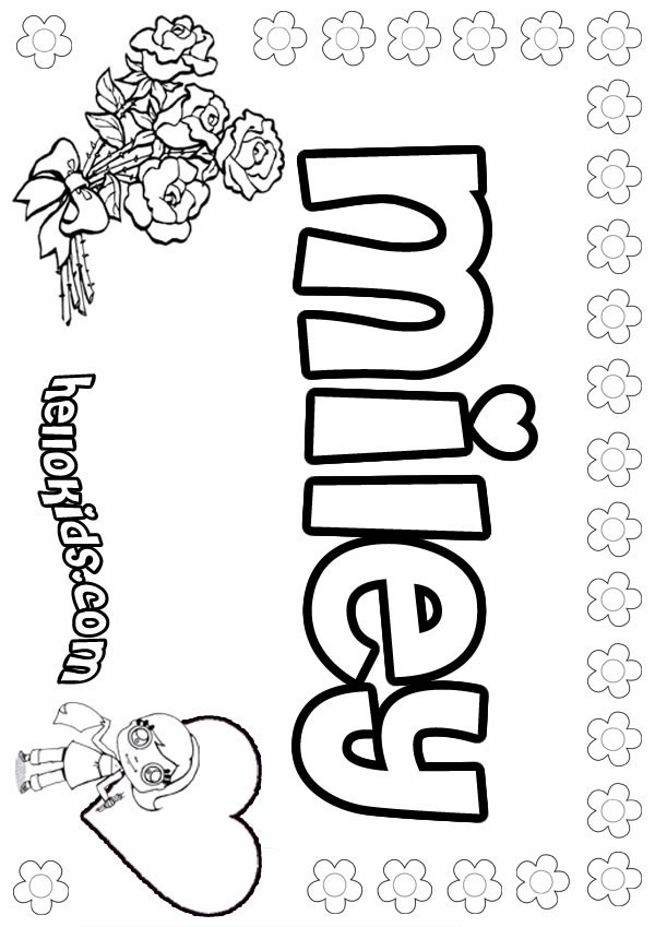 Miley Coloring Pages