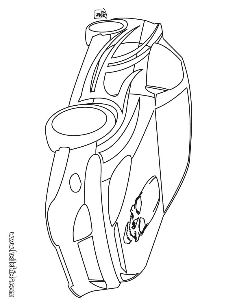 tuning car coloring pages racing car