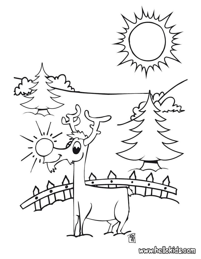 santa 39 s reindeer coloring pages cute dasher reindeer