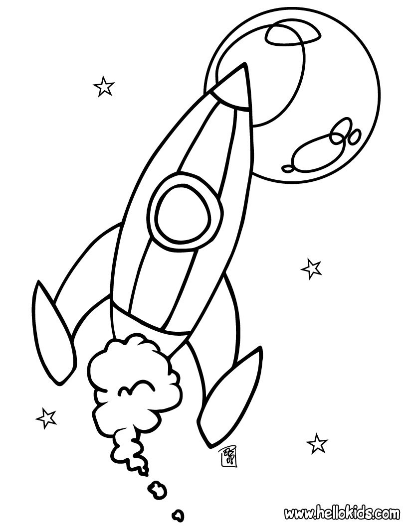 space coloring pages spaceship