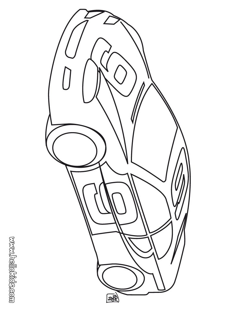 tuning car coloring pages sport car