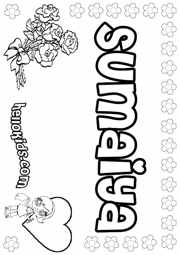 Sumaiya Coloring Pages