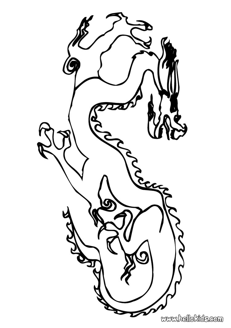chinese new year coloring pages chinese dragon decoration