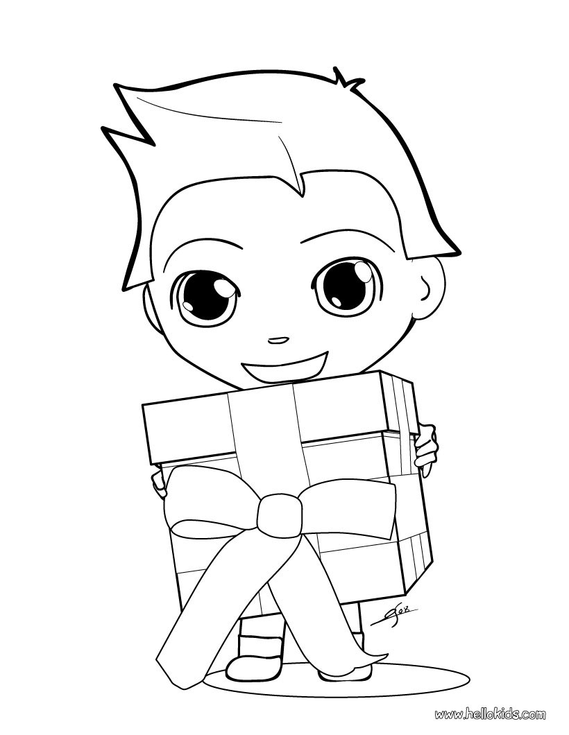 Christmas Gift Coloring Pages 14 Xmas Online Coloring Books And