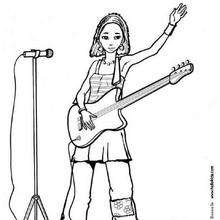 singer coloring pages rock star