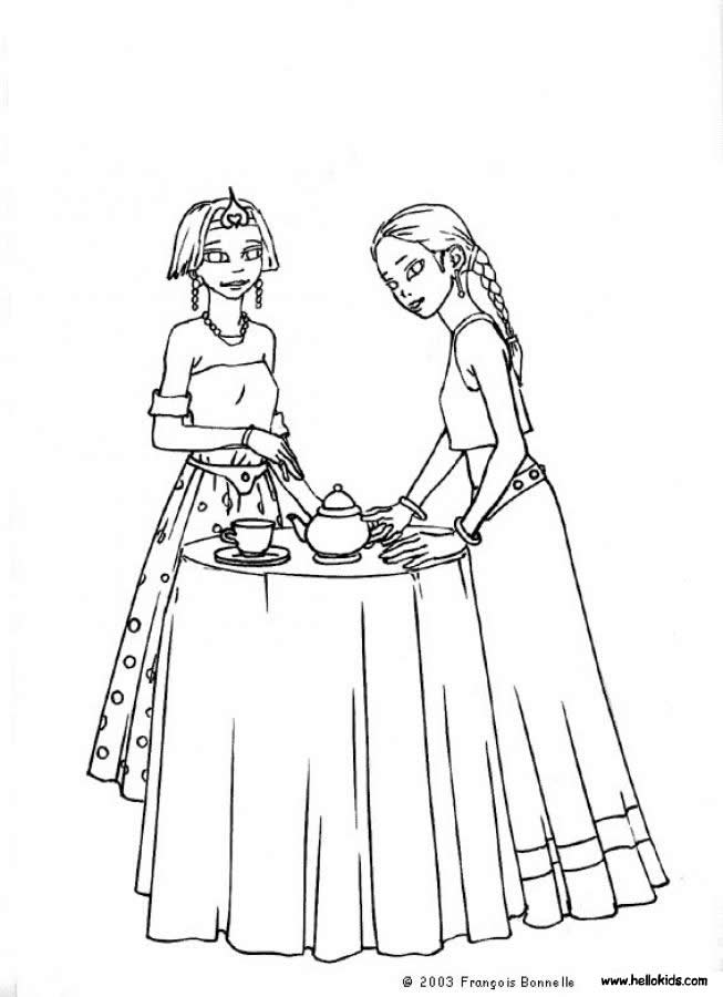 princess coloring pages princess tea party