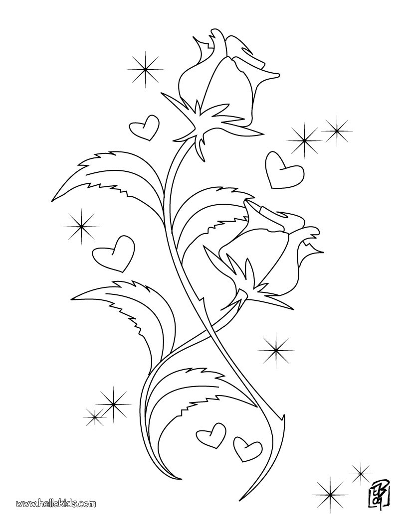 flowers coloring pages rose 1 coloring page spacer