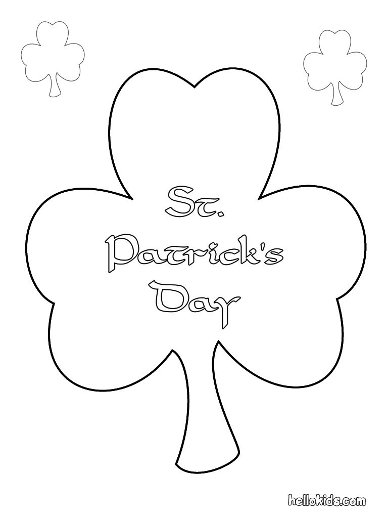 st patrick 39 s day coloring pages shamrock