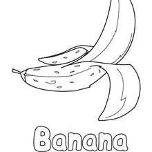 banana drawing for kids coloring pages free online games