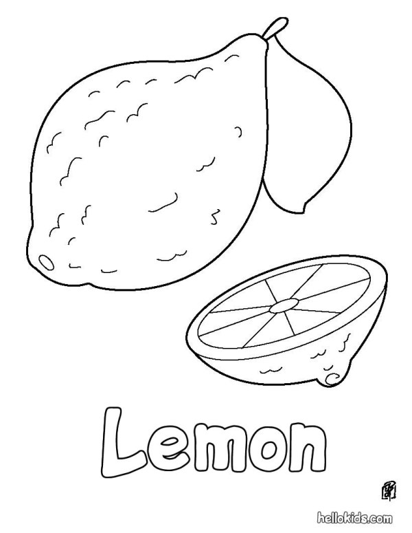 lemon coloring page # 1