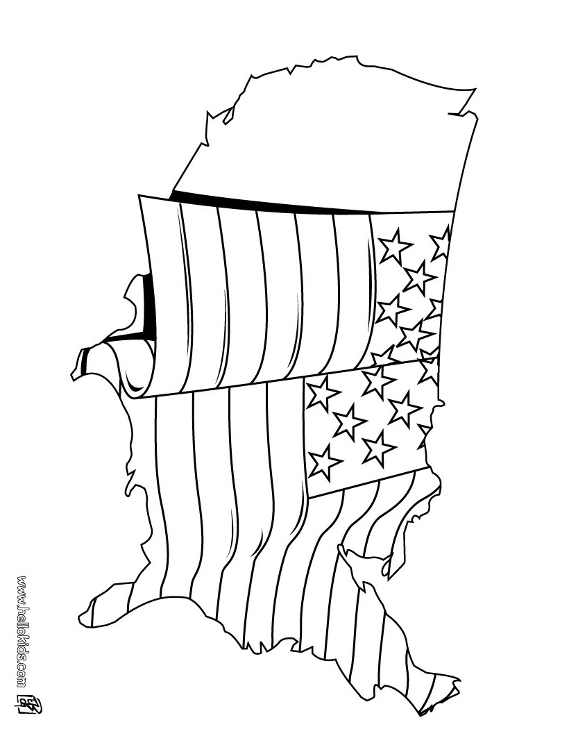 4th of july coloring pages us flag