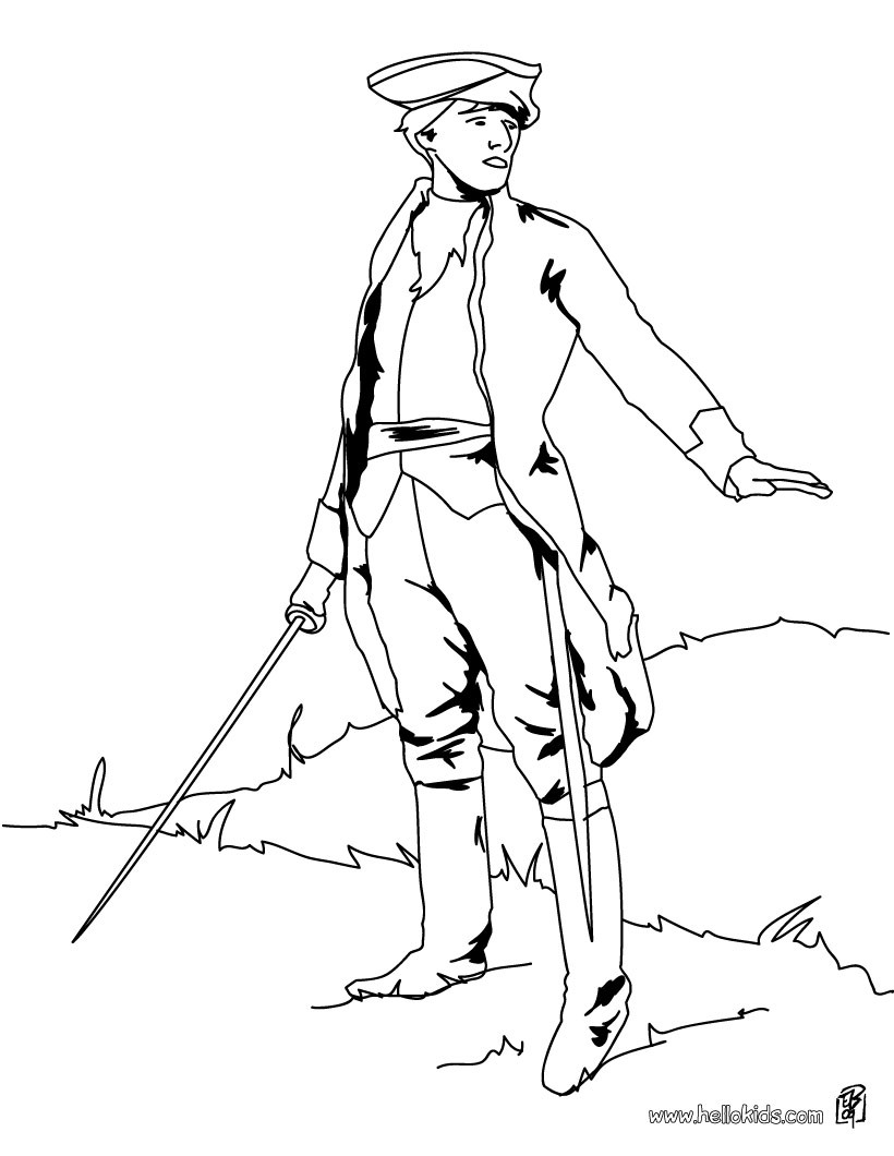 4th of july coloring pages soldiers