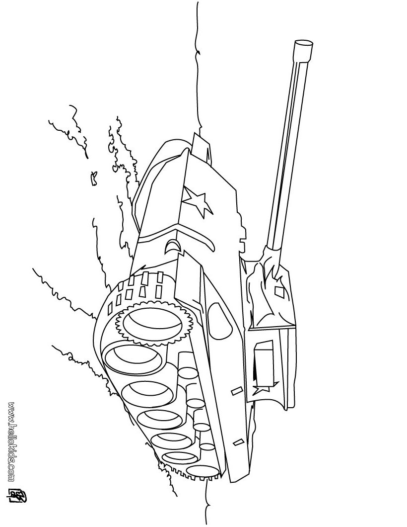 army vehicles coloring pages tank