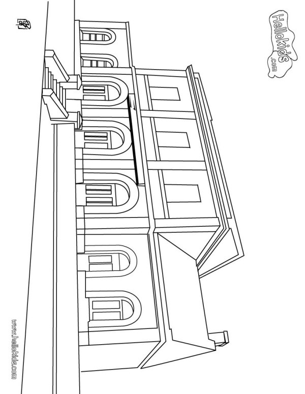 train coloring pages # 46