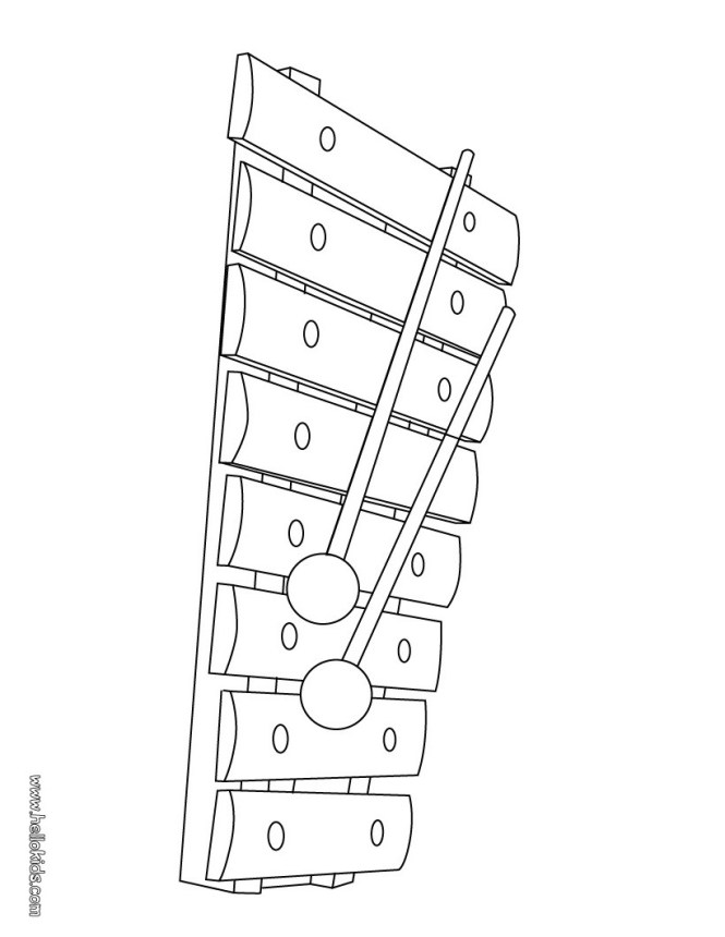 Xylophone Coloring Pages Okids Com