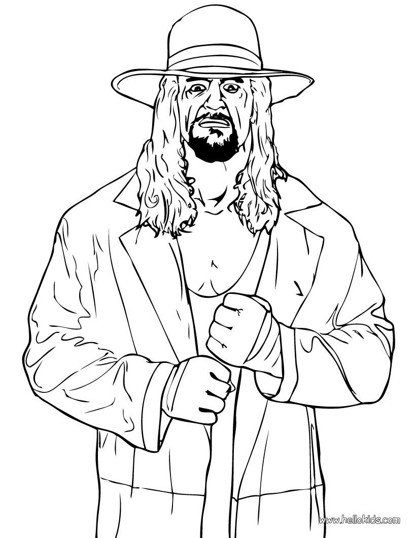 wrestling coloring pages wrestler the undertaker