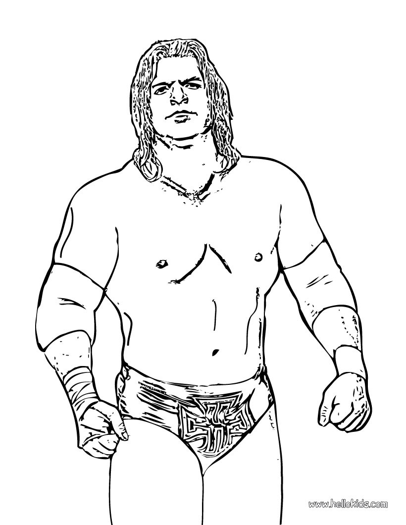 Jeff Hardy Wrestling Coloring Pages Hellokids