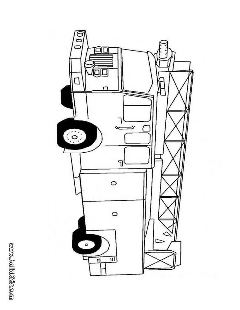 truck coloring pages fire truck