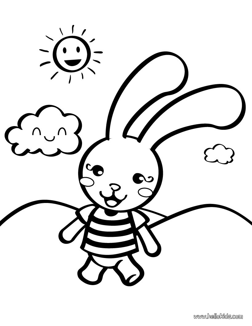 coloring pages for preschoolers rabbit toy