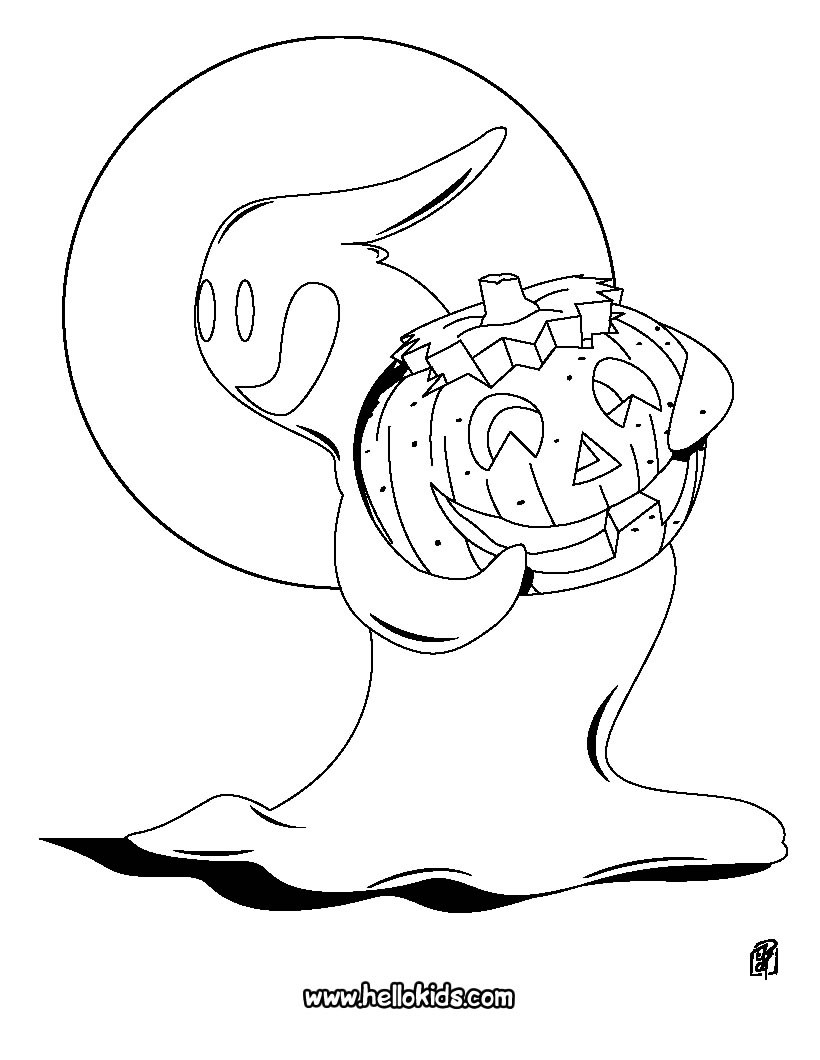 jack o lantern pumpkins coloring pages ghost with a pumpkin