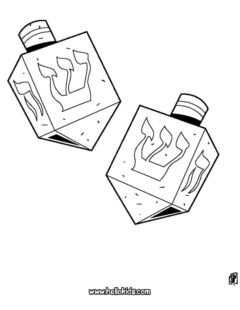 Chanukah Coloring Pages - Chanukah Crafts - Jewish Kids | 1060x820