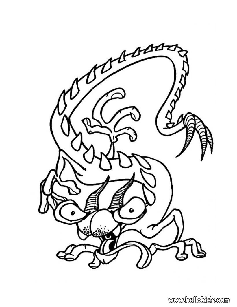 Halloween Monsters Coloring Pages 51 Creatures To Color For