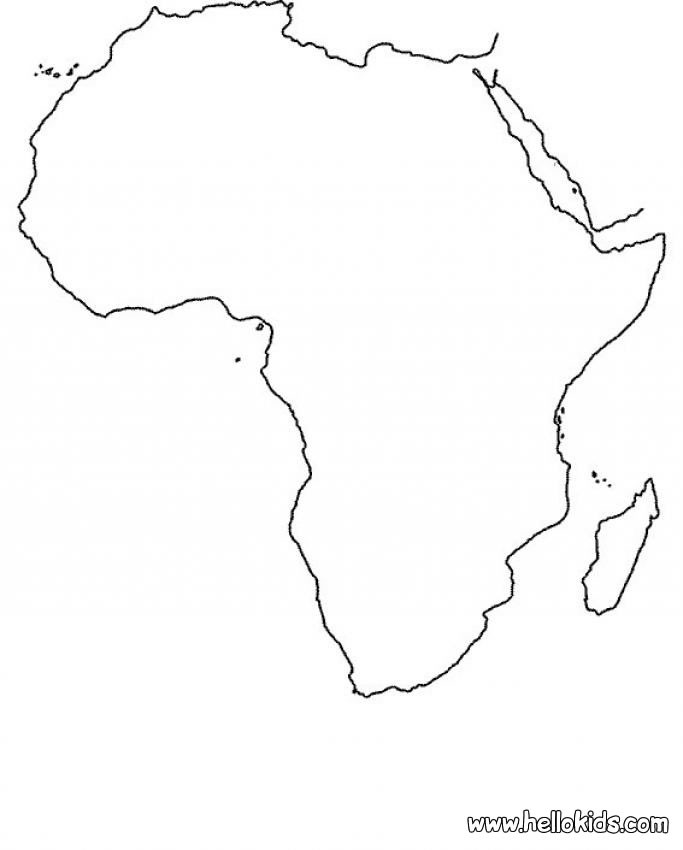 maps coloring pages africa map