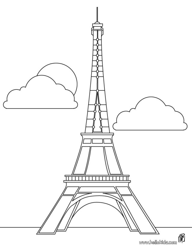 Eiffel tower coloring pages - Hellokids.com