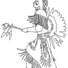 indian coloring pages indian