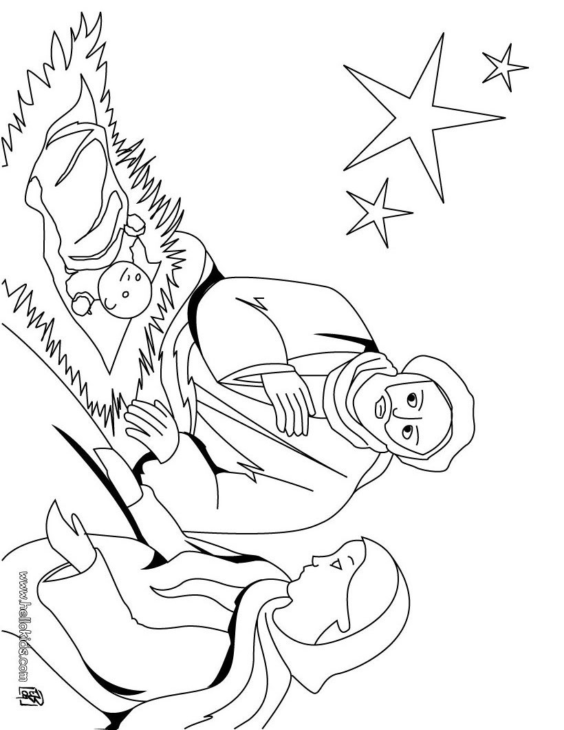 christmas crib coloring pages  joseph mary and jesus