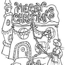 christmas lights coloring pages # 79