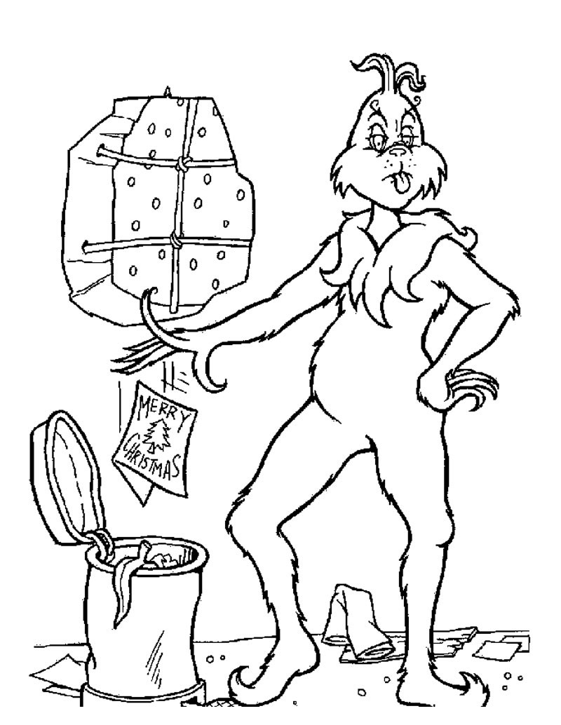 christmas coloring pages the grinch throws christmas letters out