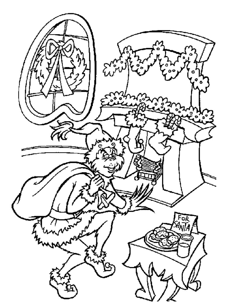 the grinch is santa claus coloring pages  hellokids