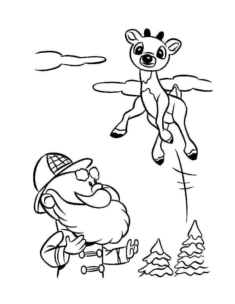 santa 39 s reindeer coloring pages santa and reindeer